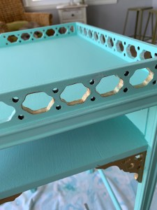 desk top with ornate detail