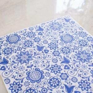 Blue Glass Ornate