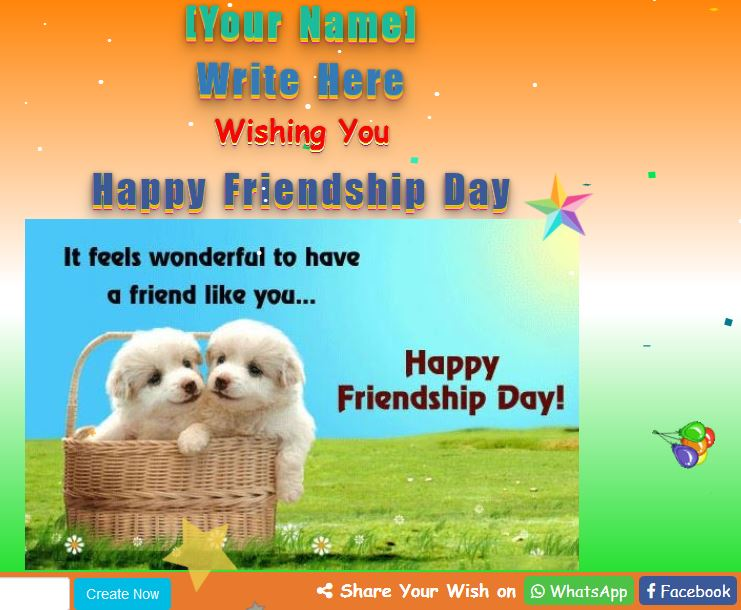 Happy Friendship Day Wish Script (Write Custom Name) - We ...