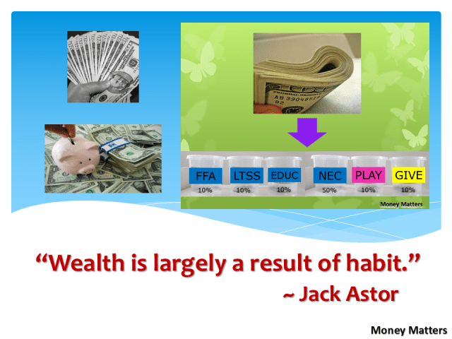 Wealth is largely