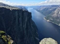Der Lysefjord von oben.