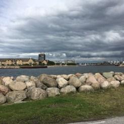 Malmö vom Hafen aus.