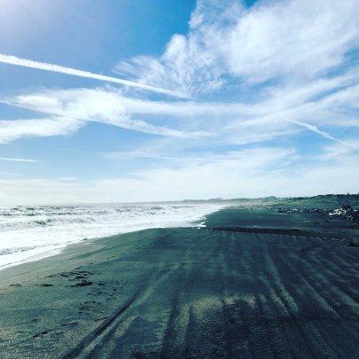 Schwarzer Sandstrand, Neuseeland