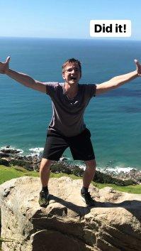Berg Neuseelands erfolgreich bestiegen