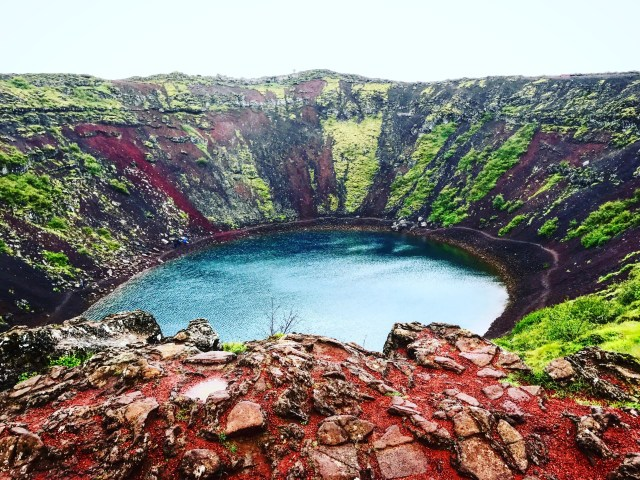 Der Vulkankrater Kerid von oben