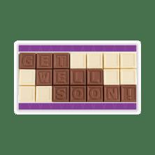 Beterschap chocolade kaartje
