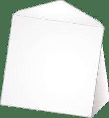 Witte wenskaart enveloppen