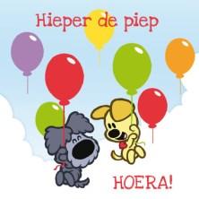 Woezel en Pip kaartje verjaardag