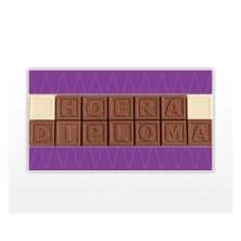 chocolade letters kaartje