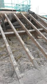 Slates now removed from roof above room 1