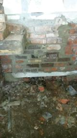 Repair work starting on brickwork under room 1
