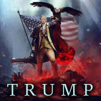 Donald Trump as superhero
