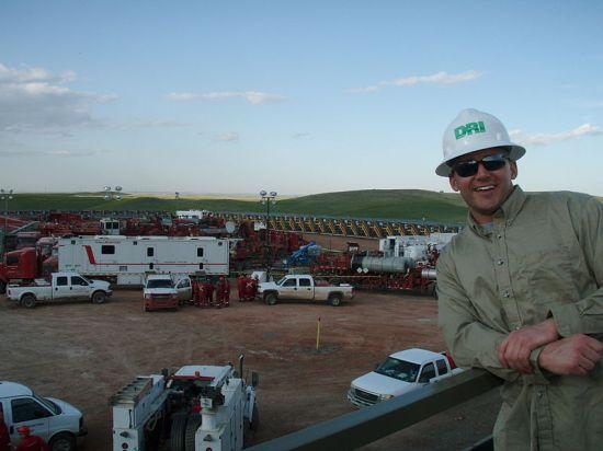Fracking operation by Halliburton