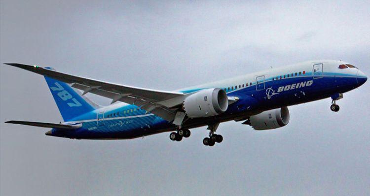 : First flight of Boeing 787 Dreamliner on December 15, 2009 just after takeoff