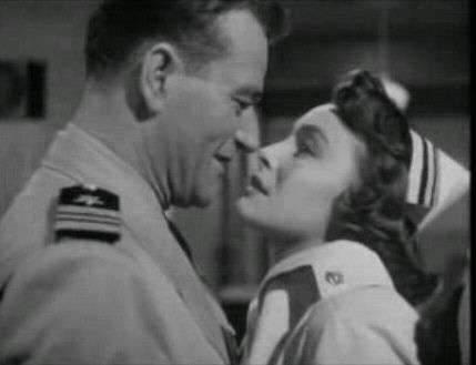 John Wayne and Patricia Neal from the film Operation Pacific