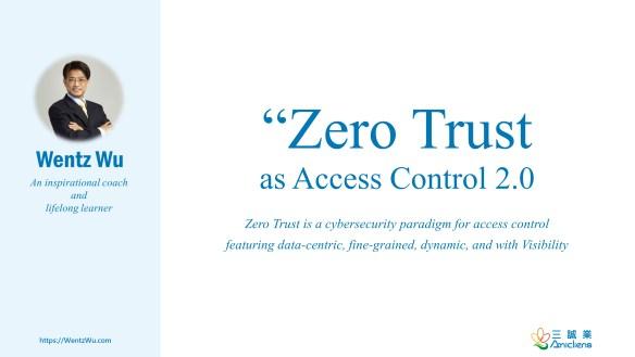 Zero Trust as Access Control 2.0