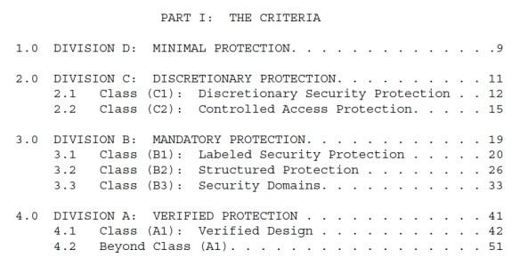 TCSEC Criteria
