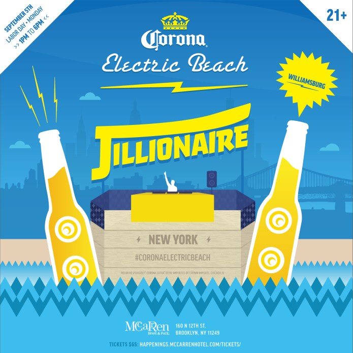 jillionaire corona electric beach