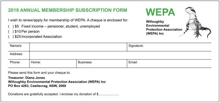 WEPA Membership Form 2019