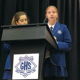 WGHS Environment Club address the World Environment Assembly
