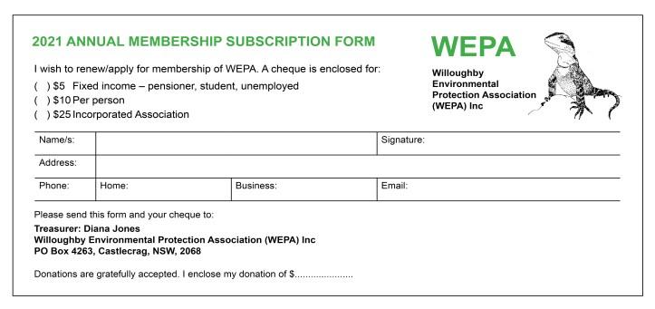 WEPA Membership form 2021