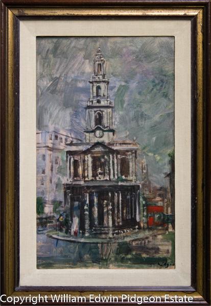 [St Mary-le-Strand Church, London 1956]