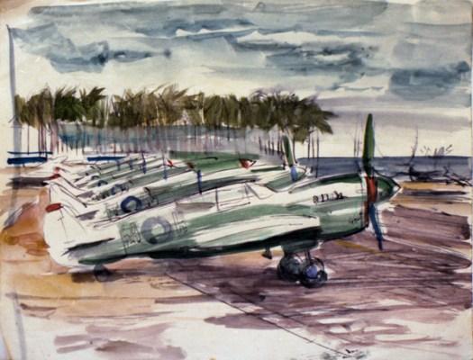 1944 Kittyhawks lined up Clr neg 17 - Copy