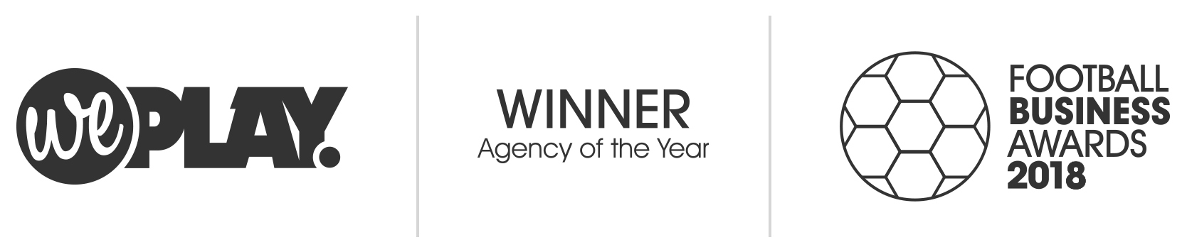 Football business Awards 2017 & 2018 Agency of the Year Winners