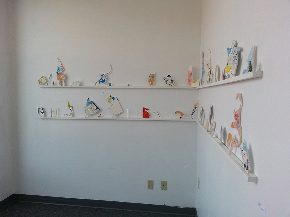 Artwork by Sarah Davidson in the WePress Gallery Space.