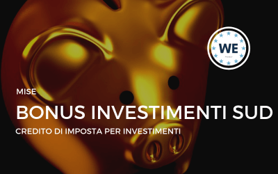Credito d'Imposta – Bonus Investimenti Sud