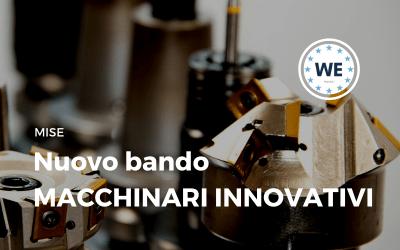 Nuovo bando Macchinari innovativi
