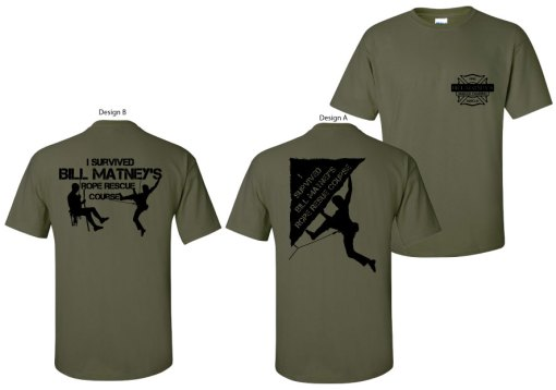 Bill Matney Rescue Training T-shirts