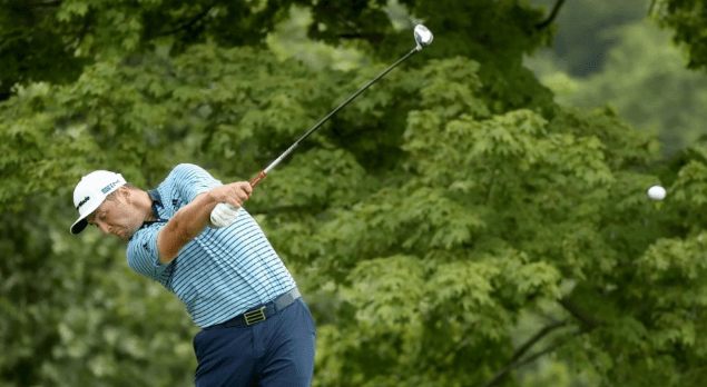 Jon Rahm practices another survival exercise