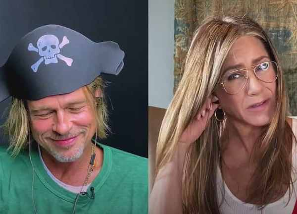 Jennifer Aniston and Brad Pitt's 'flirts' during a video call: 'You're so sexy'