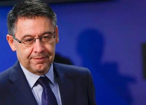 Josep Maria Bartomeu resigned as president of Barcelona