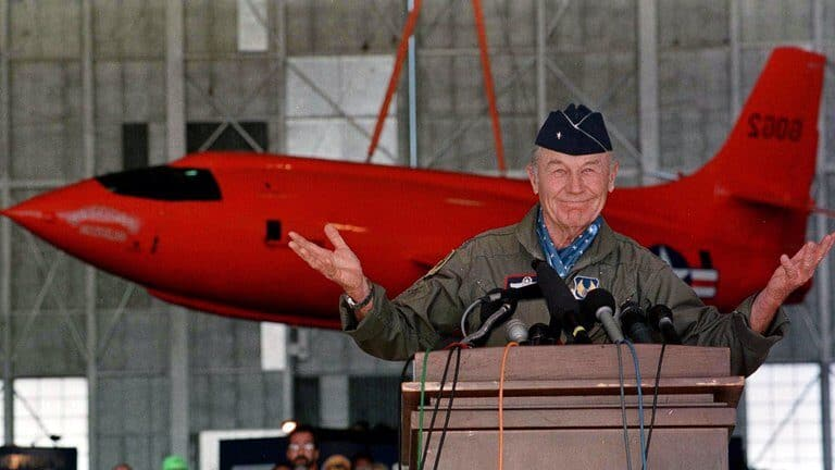 Chuck Yeager, the first pilot to break the sound barrier, dies.