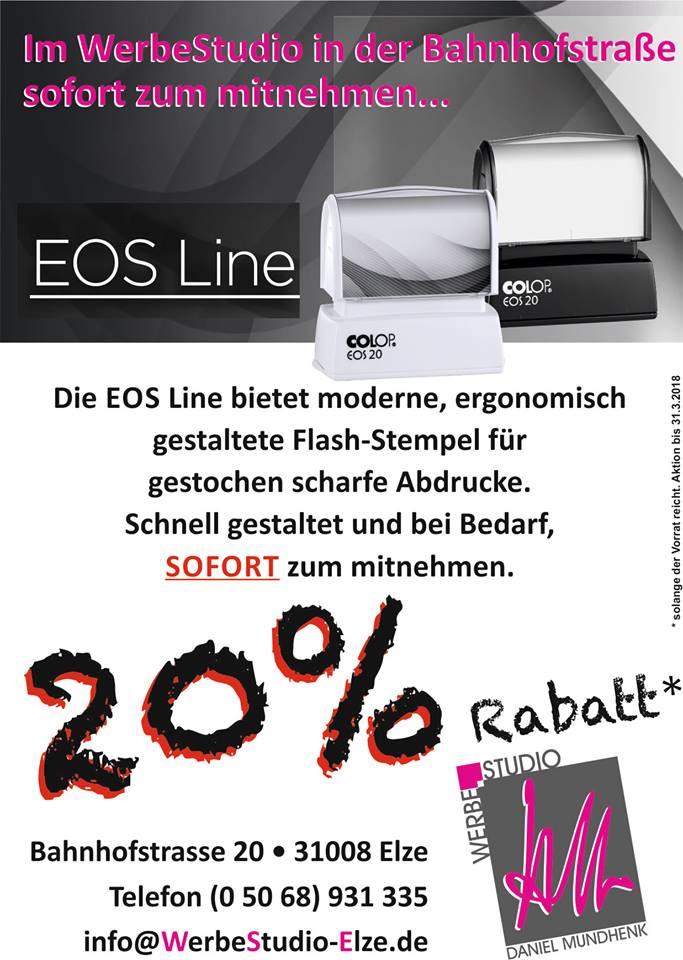 20% Rabatt auf EOS-Line Stempel
