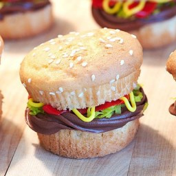 pinterest hamburger cupcake
