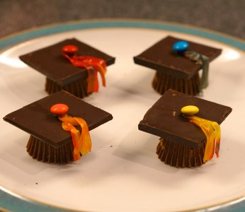 chocolate graduation caps