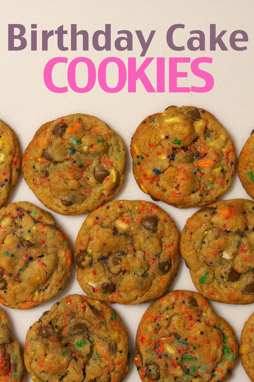 Birthday Cake Mix Cookies