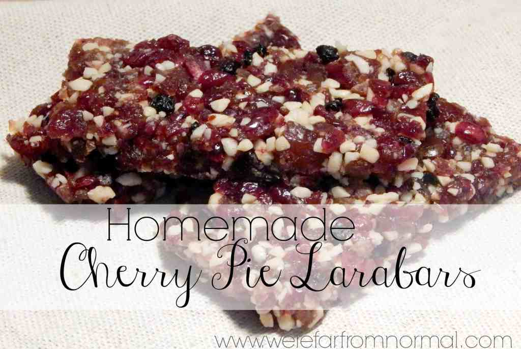 Easy as Cherry Pie Bars (copy cat Larabars)