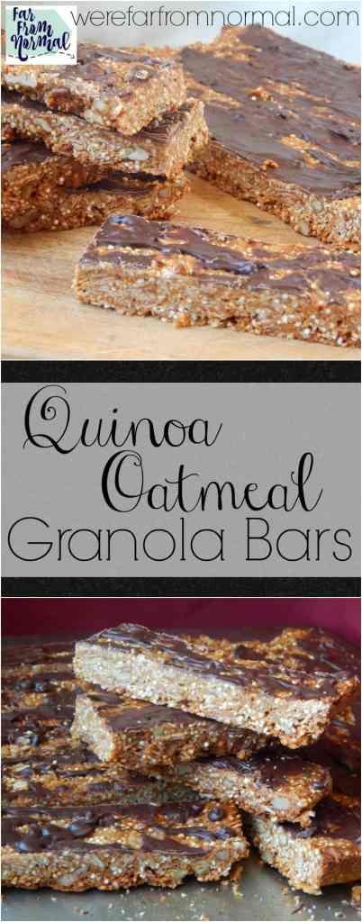 If you're looking for a healthy granola bar recipe look no furthur! These are full of healthy ingredients and the perfect blend of chewy and crunchy!
