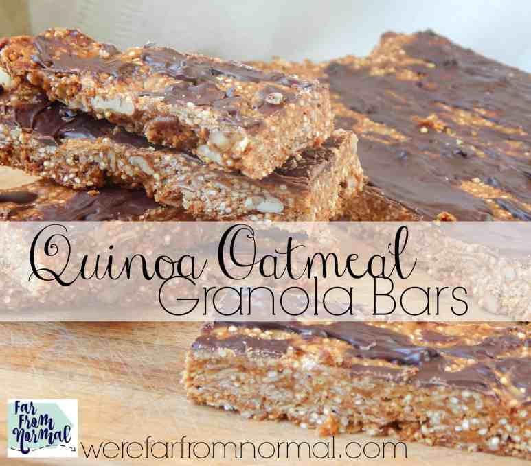 These granola bars are perfect! A great combination of chewy, crunchy and just the right amount of sweet full of healthy quinoa!
