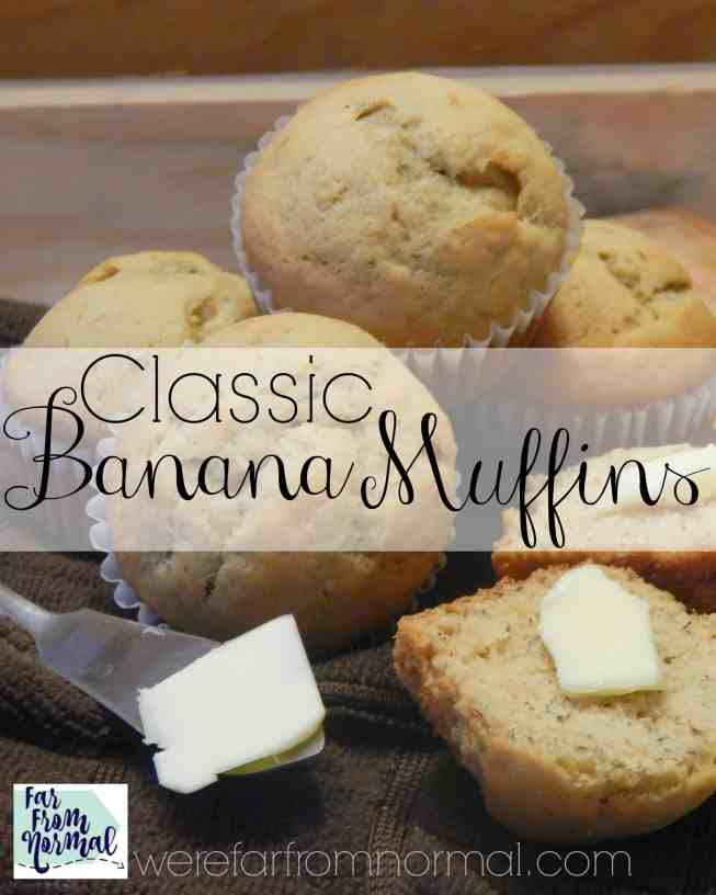 These muffins are the best way to use up over ripe bananas! Such a simple recipe, easy, and delicious!