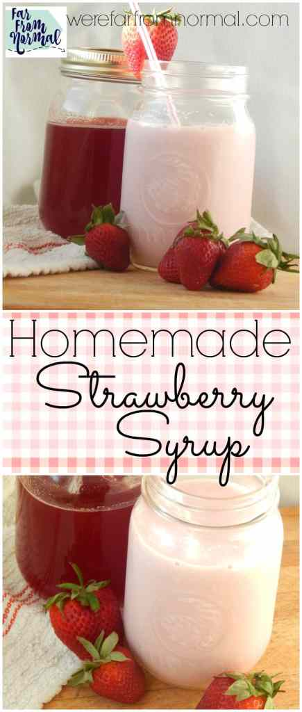 Ditch the fake pink strawberry syrup! This stuff is so much better! It tastes like strawberry ice cream, so fresh and delicious. Perfect in milk or on pancakes!