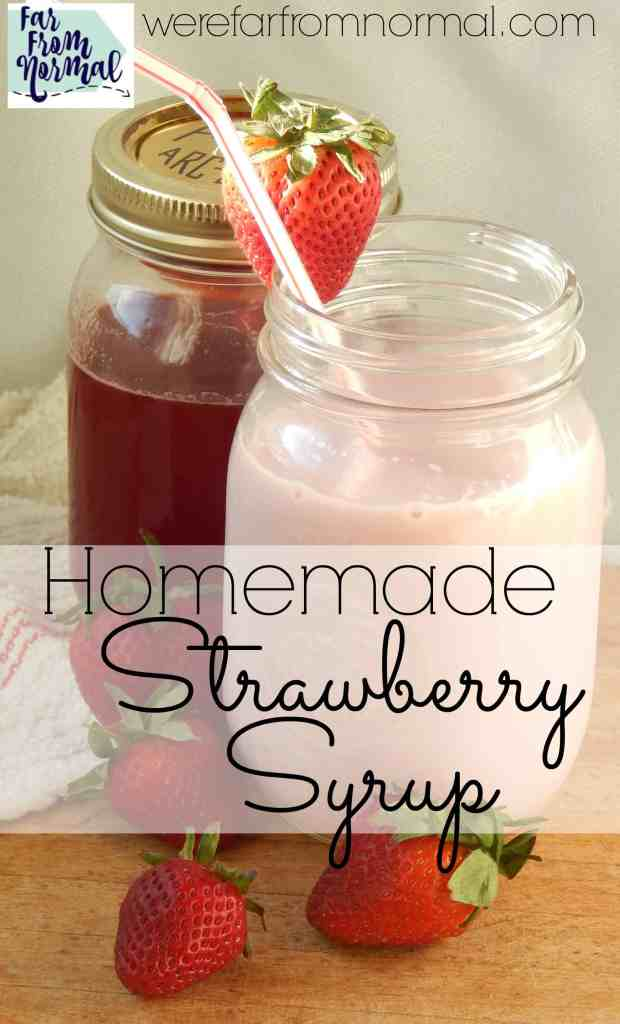 If your kids love strawberry milk as much as mine do you have to make this homemade strawberry milk syrup! It is sooo much better than store bought and tastes like fresh strawberries. Perfect for milk, ice cream or waffles!