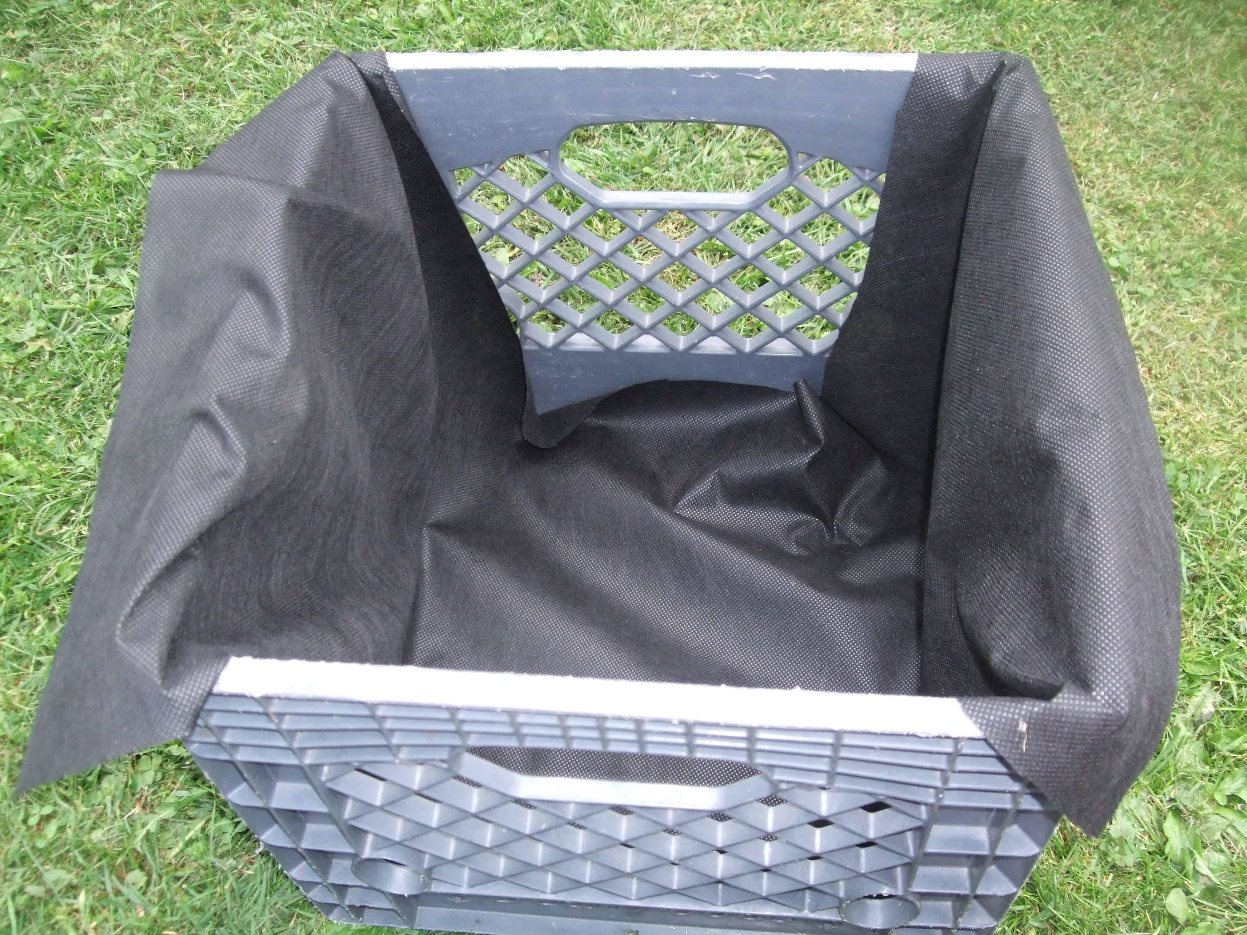 make a milk crate garden - Milk Crate Garden