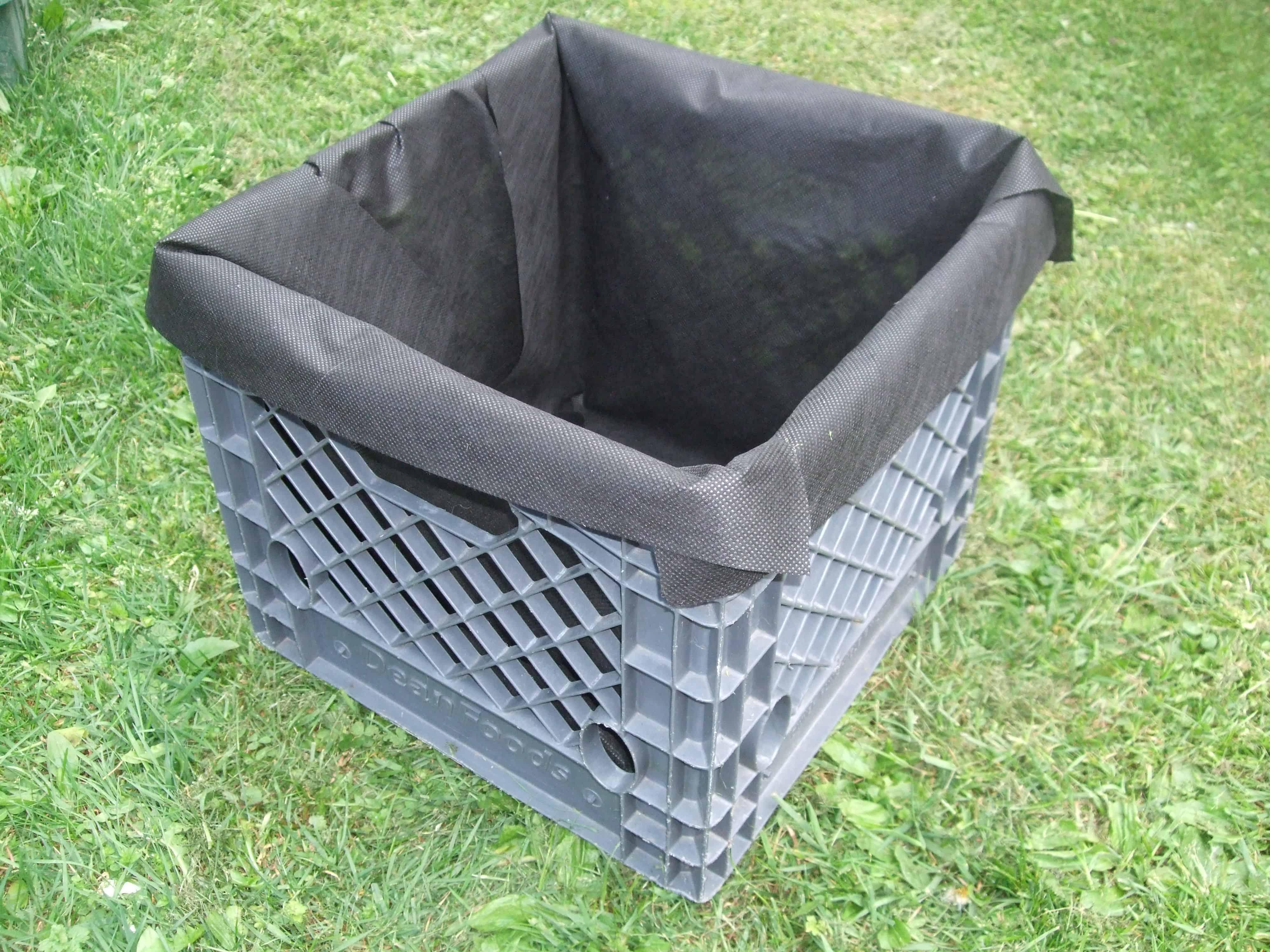 how to make a milk crate garden - Milk Crate Garden