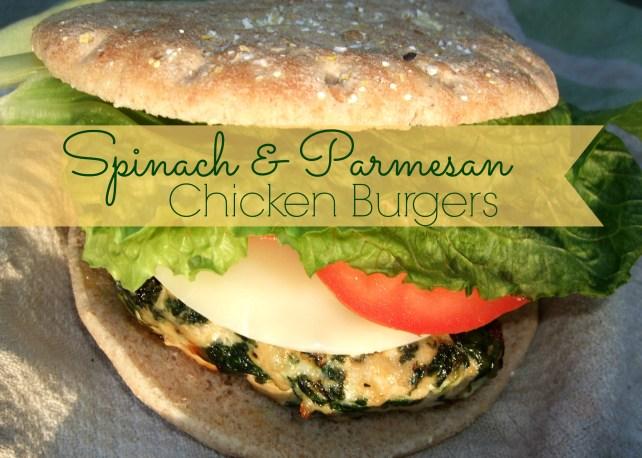Spinach Parmesan Chicken Burgers