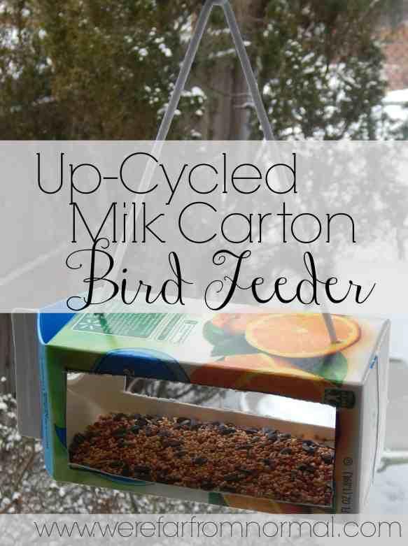 Up-cycled Milk Carton Bird Feeder